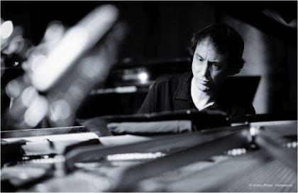 "Jürgen Friedrich 14.06.2015 ""Nautilus"": Hayden Chisholm - sax., Jürgen Friedrich - piano, Robert Lucaciu - bass, Philipp Scholz - drums © Peter Tümmers"