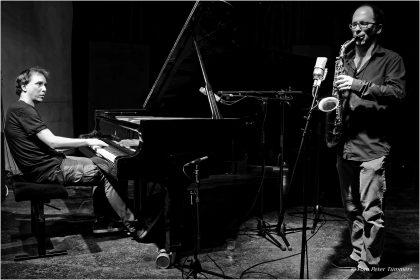 26.11.2014 DUONALE Nano Brothers: Johannes Ludwig - sax. - Jürgen Friedrich - piano © Peter Tümmers