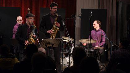 17.02.2017: Jilman Zilman feat. Simon Nabatov – acoustic concert  vl:  Peter Christof, Johannes Ludwig, Julian Bossert, Tilman Herpichböhm