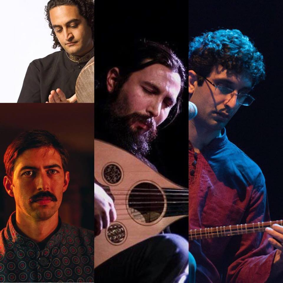 top left: Reza Samani ; bottom left: James Wylie ; middle: Arman Sigarchi ; right: Nima Khoshravesh