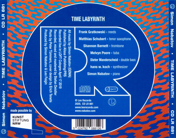 Leo Records  881 Frank Gratkowski Matthias Schubert Shannon Barnett Melvyn Poore Hans W. Koch Simon Nabatov Dieter Manderscheid Recorded live LOFT Cologne Köln Stefan Deistler