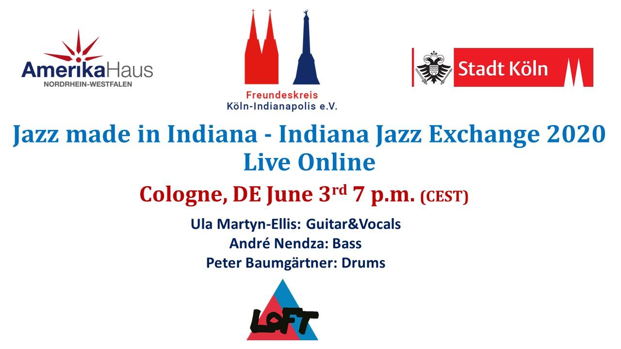 livestream made in Indiana Jazz Exchange 2020 LOFT Köln Cologne