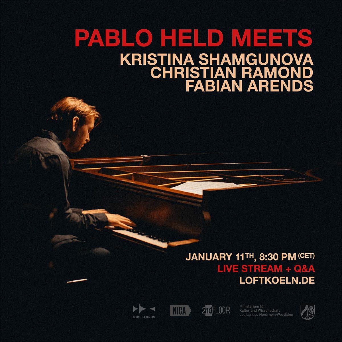 Kristina Shamgunova, Pablo Held, Christian Ramond, Fabian Arends, meets, LOFT, Cologne, Köln, livestream, Christian Heck