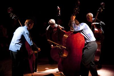 Multibass, Bass, Multibass Orchestra, Christian Ramond, Dietmar Fuhr, Achim Tang, Sebastian Gramss, livestream, LOFT, Cologne, Köln, Stefan Deistler