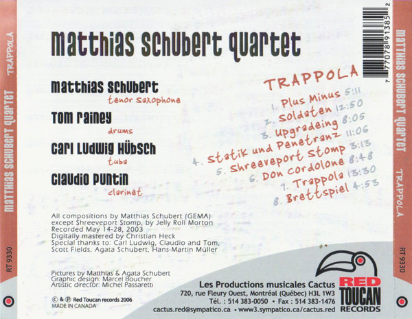 Matthias Schubert, Claudio Puntin, Carl Ludwig Hübsch, Tom Rainey, Trappola, LOFT, Christian Heck